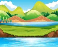 Сцена озера Стоковая Фотография RF