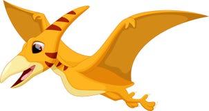 逗人喜爱的翼手龙动画片 库存照片