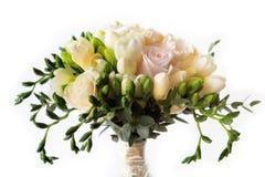 罗斯新娘的花花束 库存照片