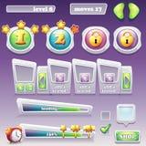 大套计算机游戏和网络设计的元素 进展 免版税库存照片