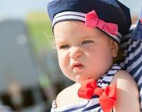 婴孩逗人喜爱的女孩纵向 库存照片