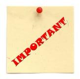 通知书面重要 免版税库存图片