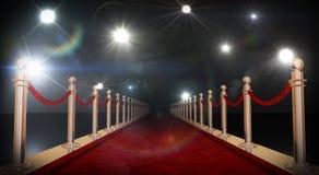 Красный ковер Стоковая Фотография