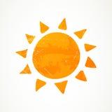 抽象夏天太阳 库存照片