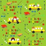 Χαριτωμένο άνευ ραφής σχέδιο σχολικών κινούμενων σχεδίων Πίσω Στοκ φωτογραφία με δικαίωμα ελεύθερης χρήσης