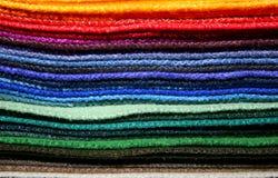 五颜六色的织品范例 库存图片