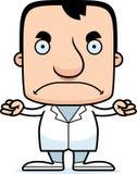 Доктор Человек шаржа сердитый Стоковые Изображения