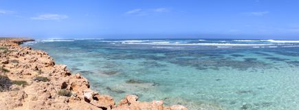 珊瑚海湾,西澳州 库存照片