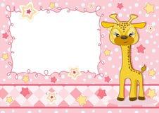 карточка младенца милая Стоковое Изображение
