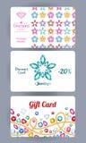 与宝石花和链子的折扣卡片 库存照片