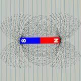 καταδείξτε τη μαγνητική ισχύ γραμμών σιδήρου δύναμης αρχειοθετήσεων πεδίων Στοκ φωτογραφία με δικαίωμα ελεύθερης χρήσης