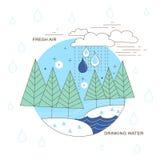在稀薄的线型的水源 免版税库存照片