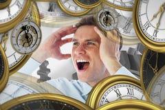 Составное изображение усиленный кричать бизнесмена Стоковая Фотография RF