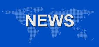 全世界背景的新闻 免版税库存照片