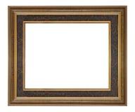 木制框架现代葡萄酒被隔绝的白色背景 免版税库存照片