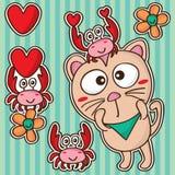Краб кота милый счастливый Стоковые Фотографии RF