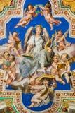 在梵蒂冈博物馆的新生绘画 库存照片