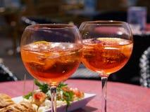 在意大利喷开胃酒 库存照片