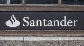桑坦德银行 库存图片