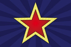 Αστέρι με τους λαμπτήρες Στοκ φωτογραφία με δικαίωμα ελεύθερης χρήσης