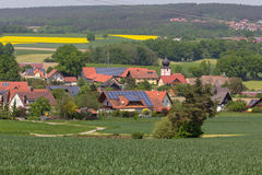 巴法力亚村庄在春天 免版税库存照片