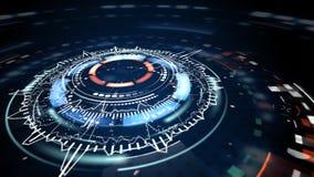Φουτουριστικά κυκλικά στοιχεία επιστημονικής φαντασίας Στοκ Εικόνα