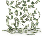 представляет счет падать доллара Стоковые Фотографии RF