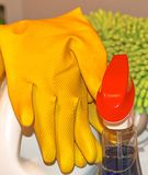 Поставки чистки дома и офиса Стоковая Фотография RF