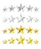 评级星形 免版税库存图片