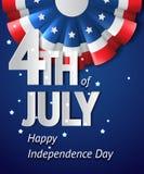美国独立日卡片 库存照片