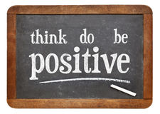 Думайте, сделайте, быть положительной мотивационной концепцией Стоковая Фотография RF