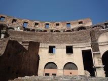 罗马斗兽场,罗马-正面看台细节,显示基础设施 库存图片