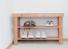 鞋子长凳 免版税图库摄影