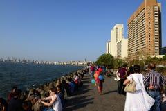 海洋驱动在孟买 免版税库存照片