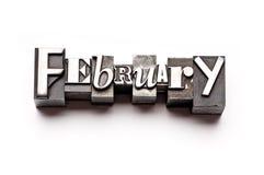 февраль Стоковые Фотографии RF