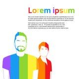五颜六色同性同性恋者婚姻的关系 免版税库存照片