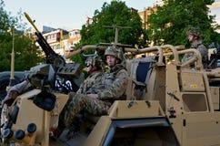 陆军英国战士 免版税库存照片