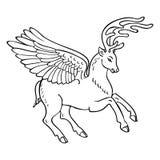 飞过的鹿 免版税库存照片
