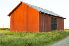 瑞典红色谷仓 库存图片