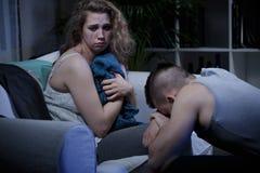 βία στο σπίτι θυμάτων Στοκ Εικόνες