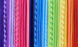 彩虹螺纹纹理,抽象五颜六色的背景 免版税库存图片