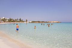Праздники пляжа в Кипре Стоковое Изображение RF
