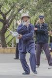 Практиковать пожилых людей Стоковая Фотография
