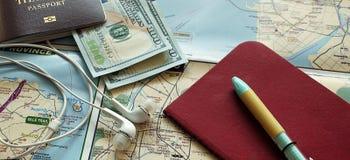 旅行材料 免版税库存照片