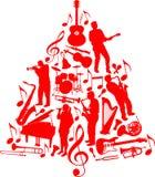 δέντρο μουσικής ανασκόπησης Στοκ εικόνα με δικαίωμα ελεύθερης χρήσης
