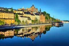 斯德哥尔摩初夏早晨 免版税库存照片