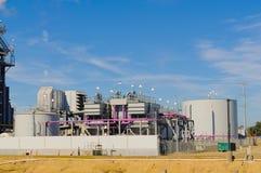 Σταθμός παραγωγής ηλεκτρικού ρεύματος φυσικού αερίου Στοκ εικόνες με δικαίωμα ελεύθερης χρήσης