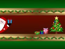 看板卡圣诞节设计 免版税库存图片