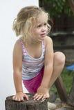 哭泣的女孩少许 图库摄影