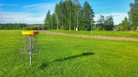最佳的圆盘高尔夫球场 免版税库存图片